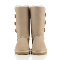 Australian Classic UGG Style Waterproof 3-Button Long Boot's