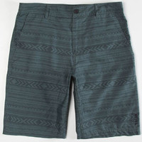 Valor Rivington Mens Hybrid Shorts - Boardshorts And Walkshorts In One Olive Combo  In Sizes