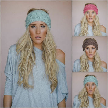 New Fashion Women Crochet Turban Headband Ear Warmer Hair Band Knit Knitted Fishbone Hairwrap 18Colors = 1958353732