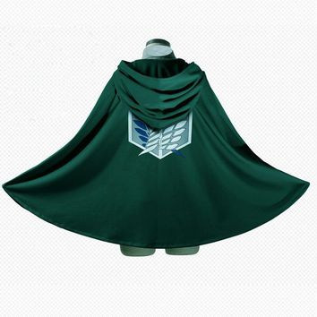 Cool Attack on Titan  Cloak  Scouting Legion Deep green anime cosplay fantasias Grade Trench Cape fantasia adulto Costumes AT_90_11