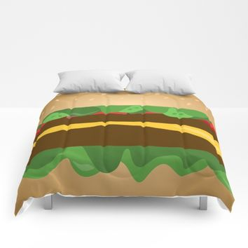 Cheeseburger Comforters by UMe Images
