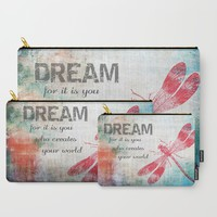 Dragonfly Dream Carry-All Pouch by ALLY COXON | Society6