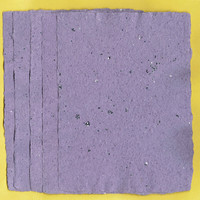 "Handmade Purple Paper, Deckle Edge, 5 Sheets, Handmade Paper 5""x7""  Purple, Sparkles , Deckle, Recycled Paper, Scrapbook, Special Paper"