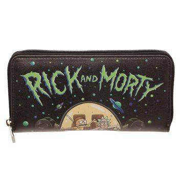 Rick & Morty Black Wallet
