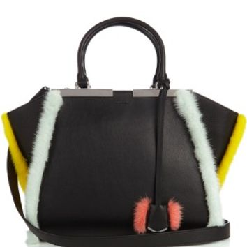 3Jours small mink-fur trimmed leather tote | Fendi | MATCHESFASHION.COM US