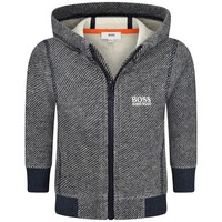Baby Boys Grey and Navy Blue Hoodie