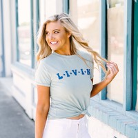 Livin' Seafoam Tee - These Three Boutique
