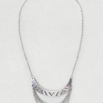 AEO Double Bar Necklace, Silver