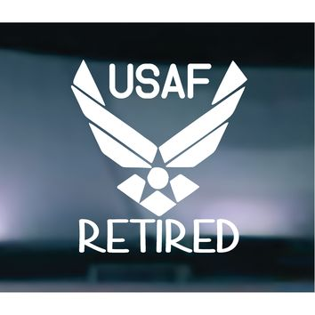 Air Force Retired Vinyl Graphic Decal