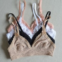 intimate lace triangle lace bralette 6 color