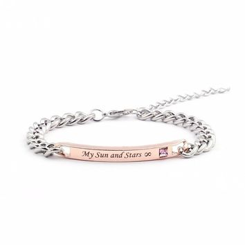 """Game of Thrones """"Moon of My Life"""" """" My Sun and Stars"""" Couple Bracelets"""