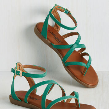 Ms. Bright-Stride Sandal in Teal | Mod Retro Vintage Sandals | ModCloth.com