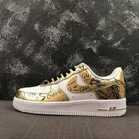 Nike Air Force 1 07 White/ Gold 2018-2019 Champ Sneakers - Best Online Sale