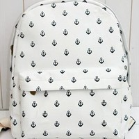 Canvas Backpack with Anchor Embellishment FJH312 from topsales