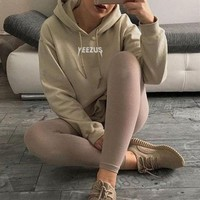 PEAPON Day First Chic Yeezus Long Sleeve Sweater Hoodies