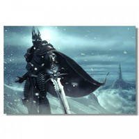 The Lich King - World of Warcraft Silk Print