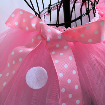 Pink Minnie Mouse  Running Tutu - Inspired by Disney - Disney Run Tutu