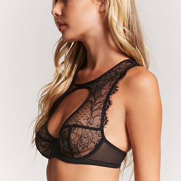 Sheer Eyelash Lace Bra