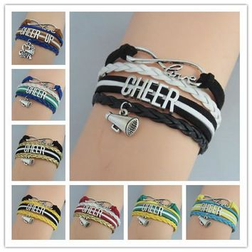 cheerleader bracelets infinity cheer love jewelry fashion girl bracelet