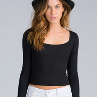 90s Style Knit Crop Top