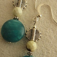 Dream Of Blue Agate Earring | asterling - Jewelry on ArtFire