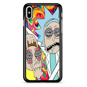 Rick And Morty Eyes Open Trip iPhone X Case