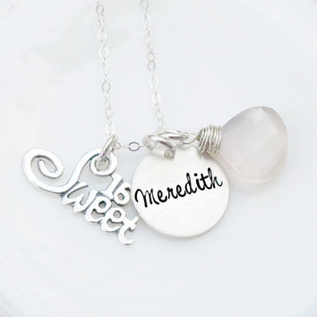 Sweet 16 Necklace - Sweet Sixteen - Personalized Jewelry - Hand Stamped Jewelry