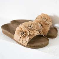 Floral Cinnamon Slip On Sandals