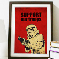 Star Wars - Support Our Troops A3 Poster Vintage Print