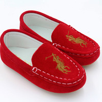 2016Hot Children Genuine Leather Shoes Kids Sport Shoes Girls Dance Shoes Boys Sneakers Baby Moccasins Kids Flat Shoes