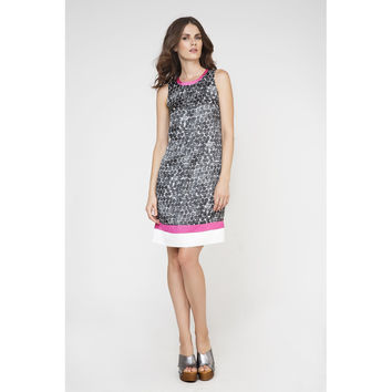 A-Line Sleeveless Print Dress