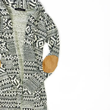 Aztec Elbow Patch Cardigan