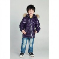 Livobu Kids Rod Toddler Quilted Down Parka Purple With Genuine Coyote Fur Trim,Livobu.com - Like it,Love it,Buy it!