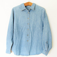 Vintage 1990s St Johns Bay Chambray Denim Shirt