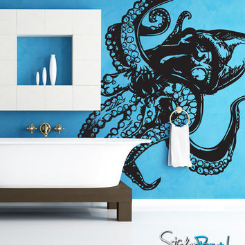 Vinyl Wall Decal Sticker Giant Octopus #809