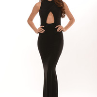 Pageant Queen Maxi Dress - Black