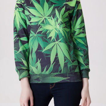 Leaf Green Pullover Hoodies = 4817985540
