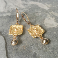 Pyrite Earrings, Pyrite Dangles, Gold Pyrite Earrings, Gold Pyrite Dangle Earrings, Gold Pyrite, Gold Earrings, Dangle Earrings, Gold Dangle