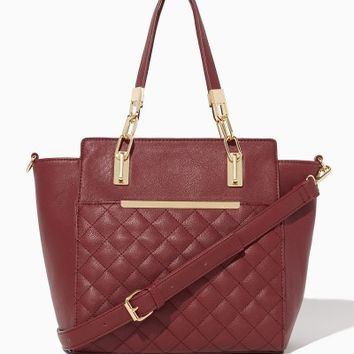 Karalyn Quilted Satchel | Fashion Handbags - Mod Squad | charming charlie