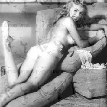 COOL RARE Marilyn Monroe Nude - Unpublished Playboy - Photo Picture Poster