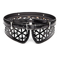 Alexander McQueen - Cut-Out Leather Belt - Saks Fifth Avenue Mobile
