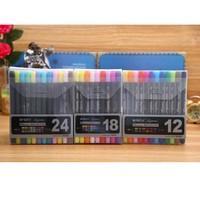 M&G Soft Brush/Fine Twin Art Marker 12/18/24 colors set Aquarelle ink for Manga design Painting Supplies