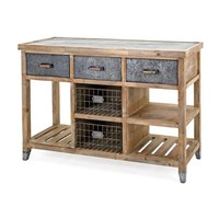 Storage Metal and Wood Cabinet