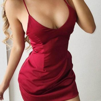 Sexy party club mini dress fashion summer clothes bandage bodycon dresses solid women V Neck zipper backless Slim vestidos