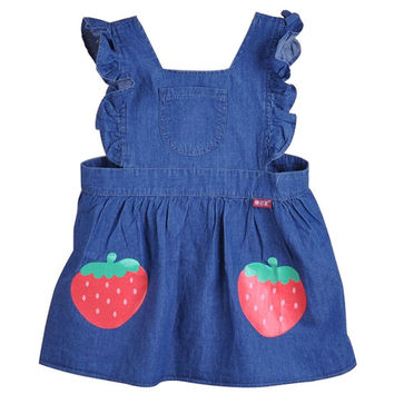 Ultra-thin Cowboy Kids Apron Waterproof Baby Painting Smocks A, 70-80cm Height
