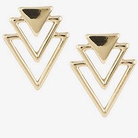 Triangle Tier Post Earrings from EXPRESS