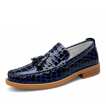 Slip On Formal Shoes Luxury Genuine Leather Men Shoes Dress Oxfords Fashion Men Shoes Casual Boat