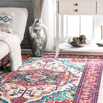 nuLOOM Persian Floral Elenor Area Rug