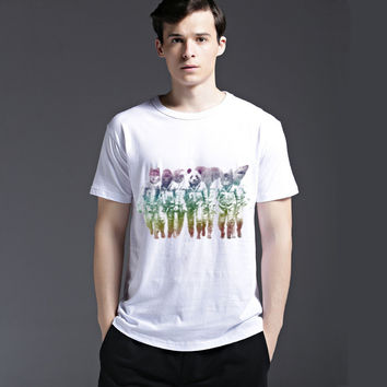 Strong Character Short Sleeve Cotton Tee Men's Fashion Casual Summer Fashion T-shirts = 6450929347