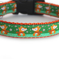 Happy Foxes Dog Collar